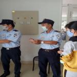 Hệ thống xếp hàng tự động tại bếp ăn từ thiện Bệnh viện Ung bướu Đà Nẵng.