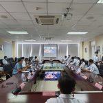 """Bệnh viện Ung bướu Đà Nẵng tham gia đề án """"Khám chữa bệnh từ xa"""" do Bệnh viện Ung bướu TP. Hồ Chí Minh tổ chức."""